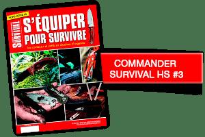 Bouton HS SURVIVAL #3 - 12,50 euros  Ce hors-série vous présente les principaux  couteaux et outils qui peuvent vous sauver la vie.