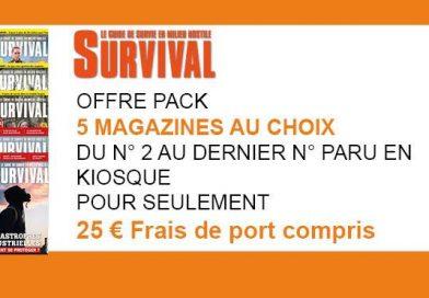 OFFRE PACK DE 5 MAGAZINES SURVIVAL
